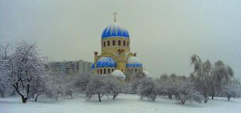 Передвижная звонница на Крещенских купаниях в Борисовских прудах 19 января